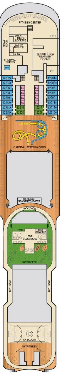 Deck 12 - Spa, Waterworks & Sports